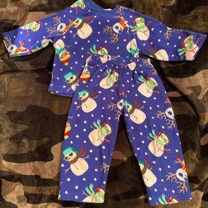 The Children's Place Sz XXS 2/3 Snowman Pajama Set